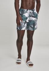 Pánske kúpacie kraťase Urban Classics Pattern Swim Shorts palm leaves