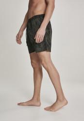 Pánske kúpacie kraťase Urban Classics Pattern Swim Shorts palm/olive #1