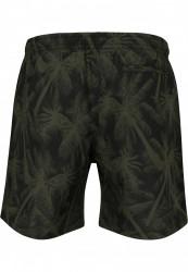 Pánske kúpacie kraťase Urban Classics Pattern Swim Shorts palm/olive #6