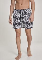 Pánske kúpacie kraťase Urban Classics Pattern Swim Shorts palm/white
