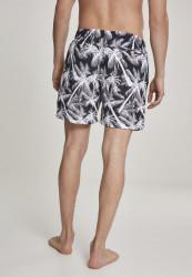 Pánske kúpacie kraťase Urban Classics Pattern Swim Shorts palm/white #2