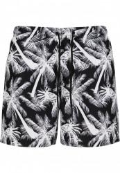 Pánske kúpacie kraťase Urban Classics Pattern Swim Shorts palm/white #5