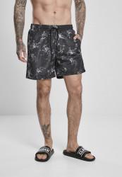 Pánske kúpacie kraťase Urban Classics Pattern Swim Shorts scratch aop