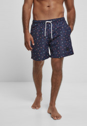 Pánske kúpacie kraťase Urban Classics Pattern Swim Shorts sunglasses aop