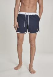 Pánske kúpacie kraťase URBAN CLASSICS Retro Swimshorts navy/white