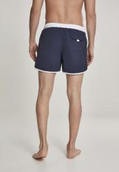 Pánske kúpacie kraťase URBAN CLASSICS Retro Swimshorts navy/white #2