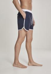 Pánske kúpacie kraťase URBAN CLASSICS Retro Swimshorts navy/white #3