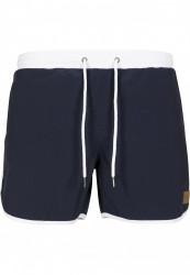 Pánske kúpacie kraťase URBAN CLASSICS Retro Swimshorts navy/white #4