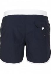 Pánske kúpacie kraťase URBAN CLASSICS Retro Swimshorts navy/white #5