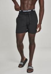 Pánske kúpacie kraťase Urban Classics Two in One Swim Shorts blk/blk/wht