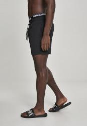 Pánske kúpacie kraťase Urban Classics Two in One Swim Shorts blk/blk/wht #1