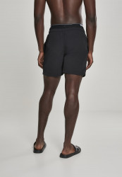 Pánske kúpacie kraťase Urban Classics Two in One Swim Shorts blk/blk/wht #2