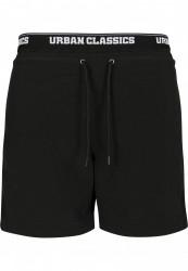 Pánske kúpacie kraťase Urban Classics Two in One Swim Shorts blk/blk/wht #5