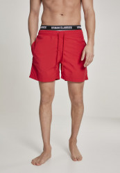 Pánske kúpacie kraťase Urban Classics Two in One Swim Shorts firered/wht/blk