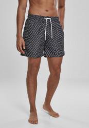 Pánske kúpacie kraťase Urban Classics UC AOP Swim Shorts black
