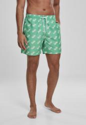 Pánske kúpacie kratasy MERCHCODE Sprite Logo AOP Swimshorts Farba: green,