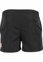 Pánske kúpacie kraťasy MR.TEE NASA Worm Logo Swim Shorts Farba: black, #1