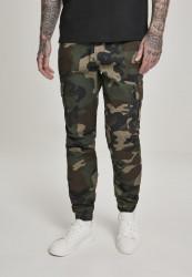 Pánske maskáčové nohavice Urban Classics Camo Cargo Jogging Pants 2.0 wood camo