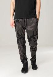 Pánske maskáčové tepláky URBAN CLASSICS Camo Sweat Pants olive camo/blk