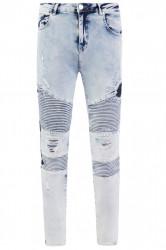 Pánske modré rifle ALIVE DENIM Moto Biker Jeans Farba: Modrá, #4