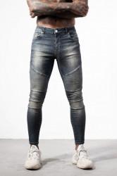 Pánske modré rifle ALIVE DENIM Moto Biker Jeans
