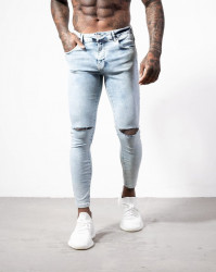 Pánske modré rifle ALIVE DENIM Ripped Knee Jeans