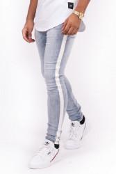 Pánske modré rifle Sixth June White Side Stripe Jeans