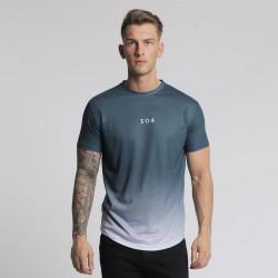Pánske modré tričko s krátkym rukávom 304 Clothing Dip Dye