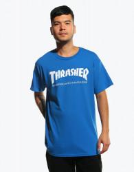 Pánske modré tričko Thrasher Skate Mag royal Farba: Modrá,