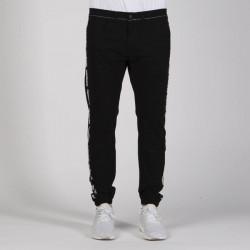 Pánske nohavice Mass Denim Joggers Sneaker Fit Line black - W Size: W 36