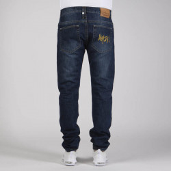 Pánske nohavice Mass Denim Signature Jeans Tapered Fit dark blue - W Size: W 36 #1