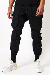 Pánske nohavice Sixth June large tactical cargo pants black