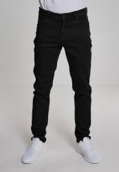 Pánske nohavice URBAN CLASSICS Basic Stretch Twill 5 Pocket čierne
