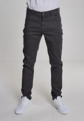 Pánske nohavice URBAN CLASSICS Basic Stretch Twill 5 Pocket šedé
