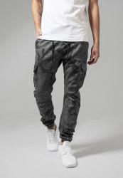 Pánske nohavice URBAN CLASSICS Camo Cargo Jogging Pants grey camo