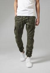 Pánske nohavice URBAN CLASSICS Camo Cargo Jogging Pants olive camo