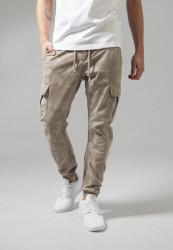 Pánske nohavice URBAN CLASSICS Camo Cargo Jogging Pants sand camo