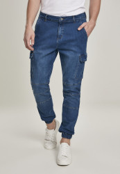 Pánske nohavice Urban Classics Cargo Jogging Jeans blue washed