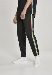 Pánske nohavice URBAN CLASSICS Side Taped Track Pants blk/multicolor