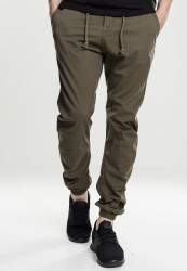 Pánske nohavice URBAN CLASSICS Stretch Jogging Pants olive