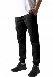 Pánske nohavice URBAN CLASSICS Washed Cargo Twill Jogging Pants black