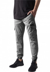 Pánske nohavice URBAN CLASSICS Washed Cargo Twill Jogging Pants grey