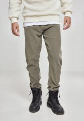 Pánske olivové menčestrové nohavice URBAN CLASSICS Corduroy Jog Pants olive