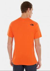 Pánske oranžové tričko s krátkym rukávom The North Face Farba: Oranžová, #1