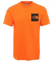 Pánske oranžové tričko s krátkym rukávom The North Face Farba: Oranžová, #2