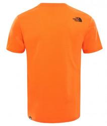 Pánske oranžové tričko s krátkym rukávom The North Face Farba: Oranžová, #3