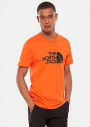 Pánske oranžové tričko s krátkym rukávom The North Face Farba: Oranžová,