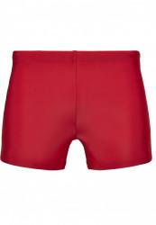 Pánske plavky URBAN CLASSICS Basic Swim Trunk červené #4