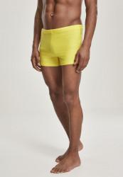 Pánske plavky URBAN CLASSICS Basic Swim Trunk žlté