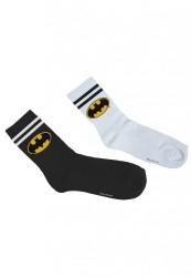 Pánske ponožky Merchcode Batman Socks Double Pack 42-46: 43-46